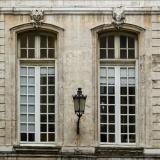 Французские окна из натурального дерева