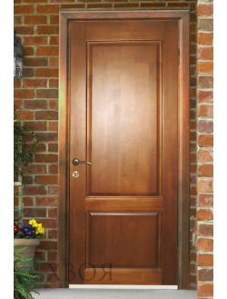 Деревянные входные утеплённые двери
