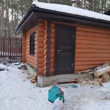 Утепленная дверь и финское окно