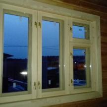 Финское окно в бане